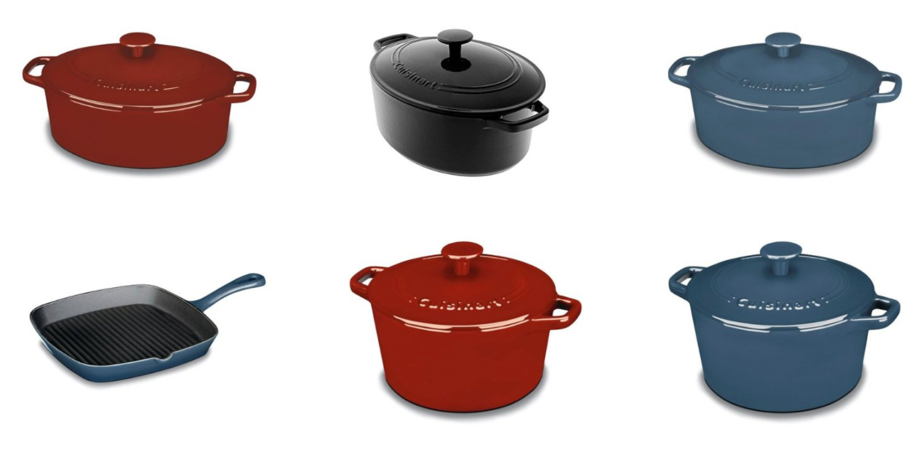 Amazon Gold Box – 65% off Cuisinart Cast Iron Cookware: Square Grill Pan $25 (Orig. $80)