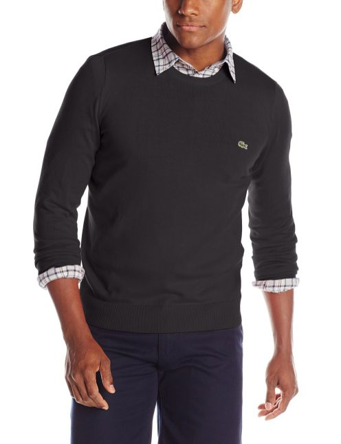 Lacoste Men's Classic Long-Sleeve Cotton Jersey Sweater