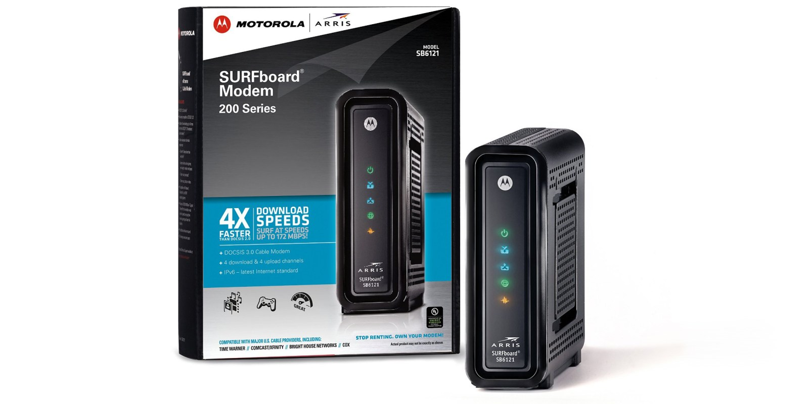 Daily Deals: Motorola SB6121 DOCSIS 3.0 Cable Modem (Refurb) $30, Logitech Type+ Bluetooth Keyboard for iPad Air $20, more