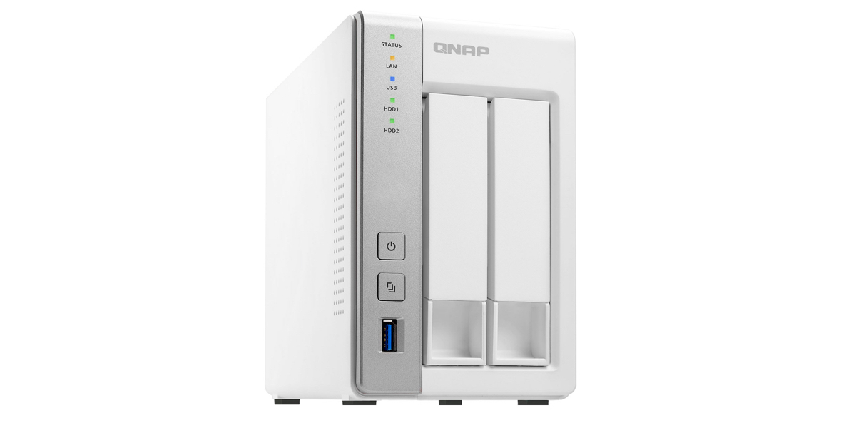 QNAP 2-Bay Personal Cloud NAS w/ DLNA & PLEX: $139 shipped
