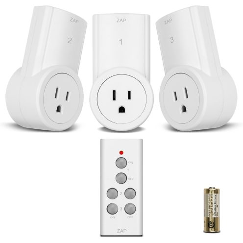 3-Pack of Wireless Remote Control Electrical Outlet Switches-2
