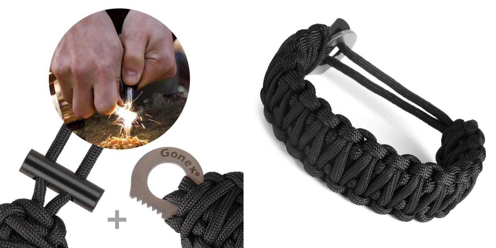 Go full-on Bear Grylls style w/ this Paracord Survival Bracelet/Knife/Fire Starter: $4 Prime shipped (Reg. $6)