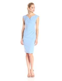 Adrianna Papell Surplus V Neck Sheeth Dress