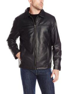 Cole Haan Vegan Leather Mens Jacket Black