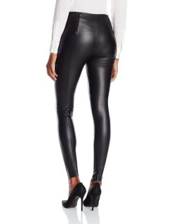 Lysse Women's Vegan Leather Leggings rear view