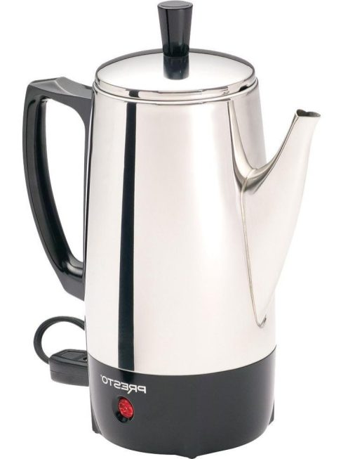 Presto 6-Cup Stainless-Steel Coffee Percolator (02822)-1