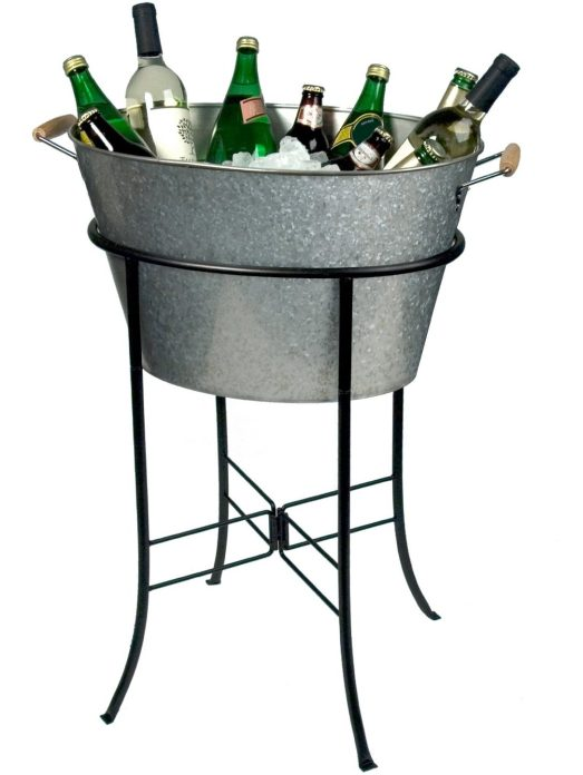 artland oasis galvanized cooler tub with stand