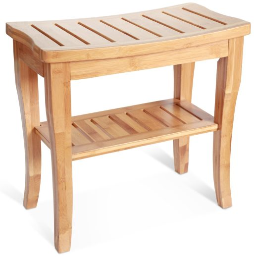 deluxe bamboo shower seat bench