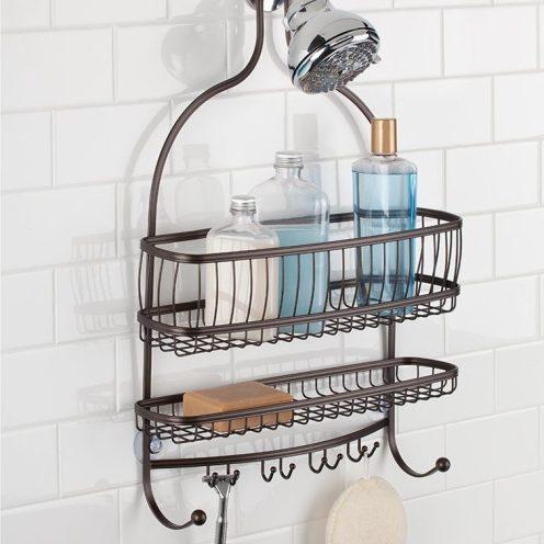 interdesign york lyra extra wide bathroom shower caddy