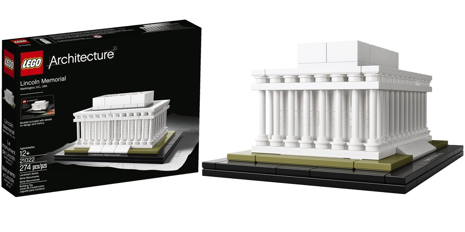 Lego Architecture Lincoln Memorial Model Kit 21022 21 Prime