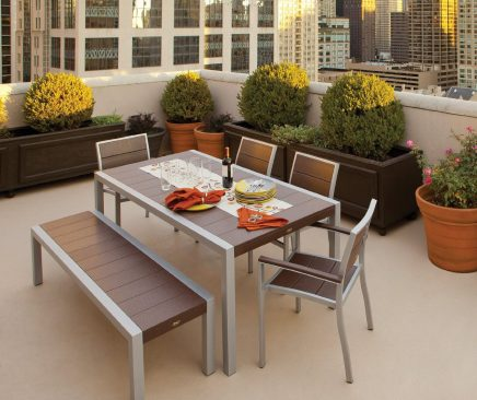 Trex outdoor furniture dining table