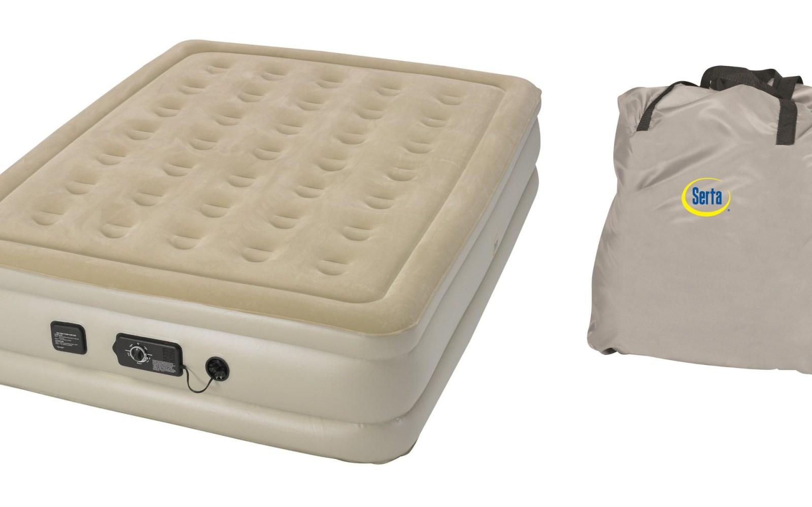 serta raised air mattress This Queen Serta Raised Air Mattress w/ neverFlat Pump is great  serta raised air mattress