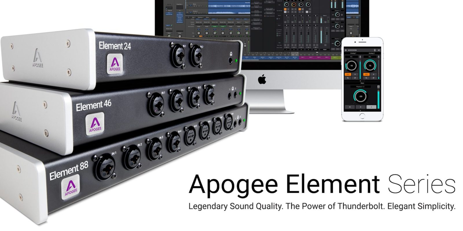 Apogee introduces new Element Series Thunderbolt audio interfaces for Mac
