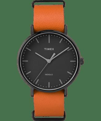 Black/Orange Timex Fairfield Men's Watch
