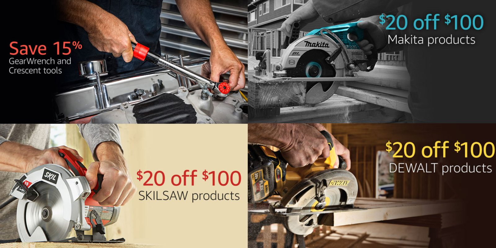 Amazon Father's Day sale takes up to 20% off Makita, DEWALT