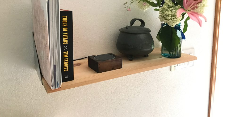 Echo Dot Stand Small on Shelf 1