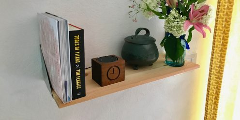 Echo Dot Stand Small on Shelf 2