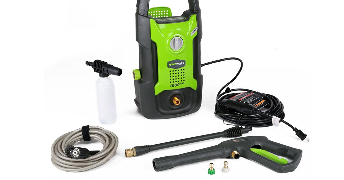 Lowe's discounts Greenworks 1500 + 1800PSI electric pressure washers from $79, today only - 9to5Toys