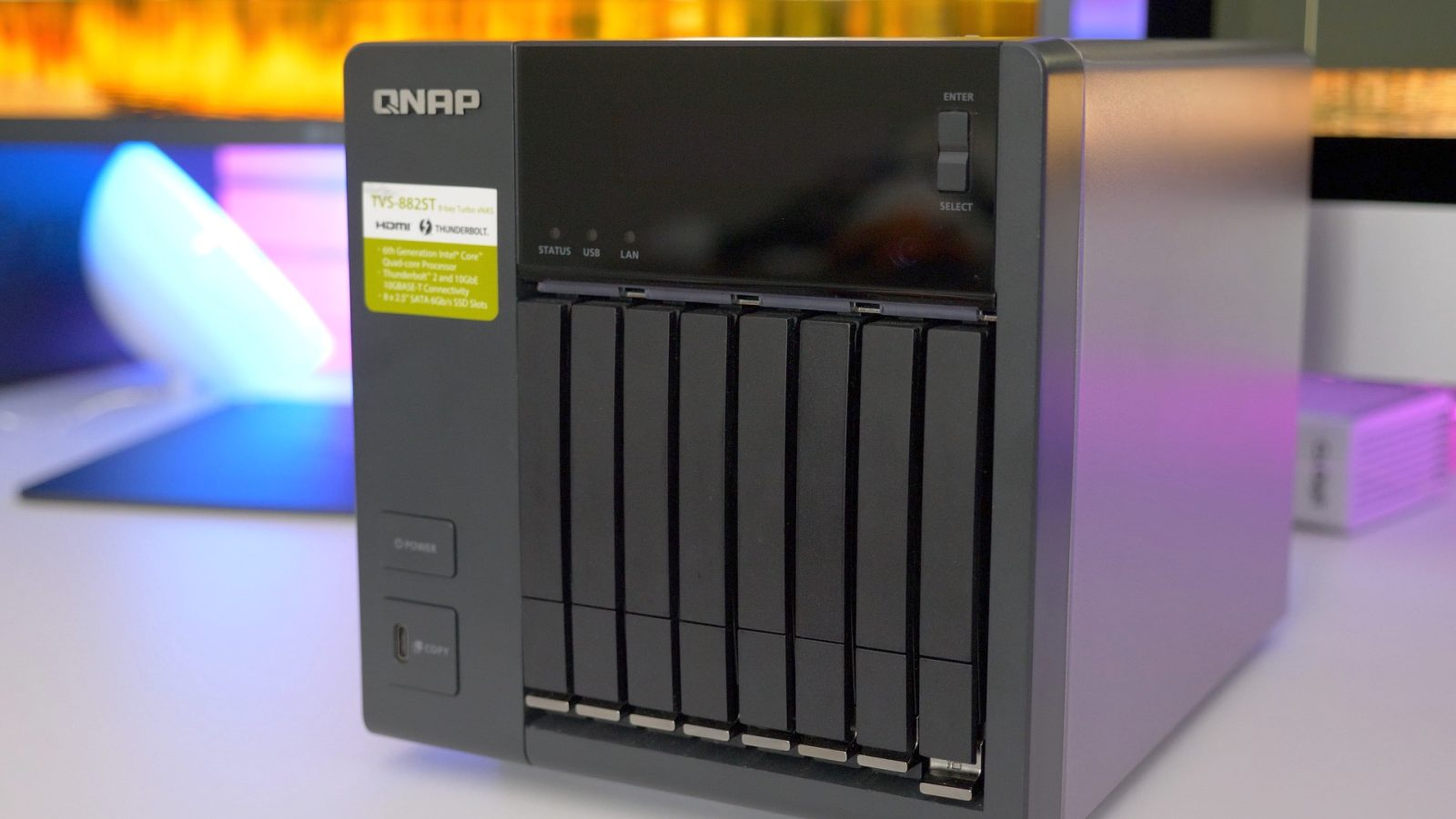 Hands-on: QNAP's TVS-882ST3 is a compact NAS with tons of power-user