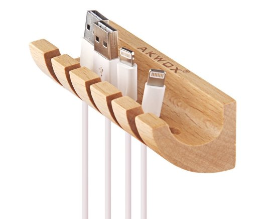 Akwox Wooden Cable Organizer Shelf