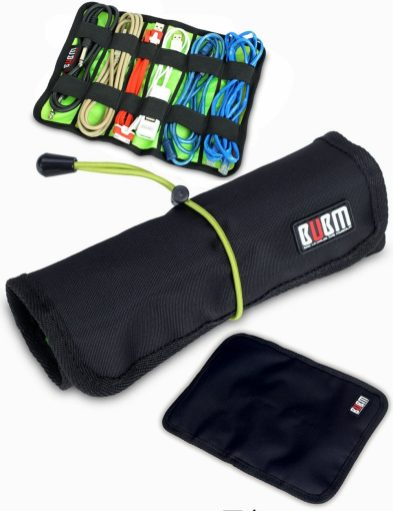 BUBM Portable Universal Cable Roll-Up Bag
