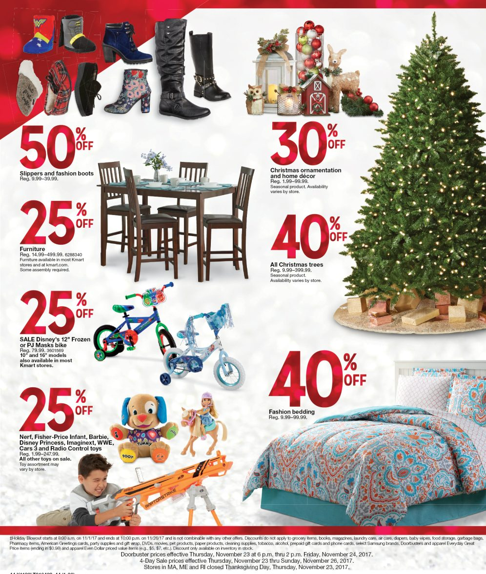 Kmart Black Friday 2017 Ad: Samsung 55-inch UHDTV $500, home goods ...