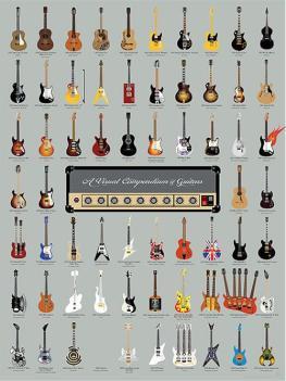 Visual compendium of Guitar Print