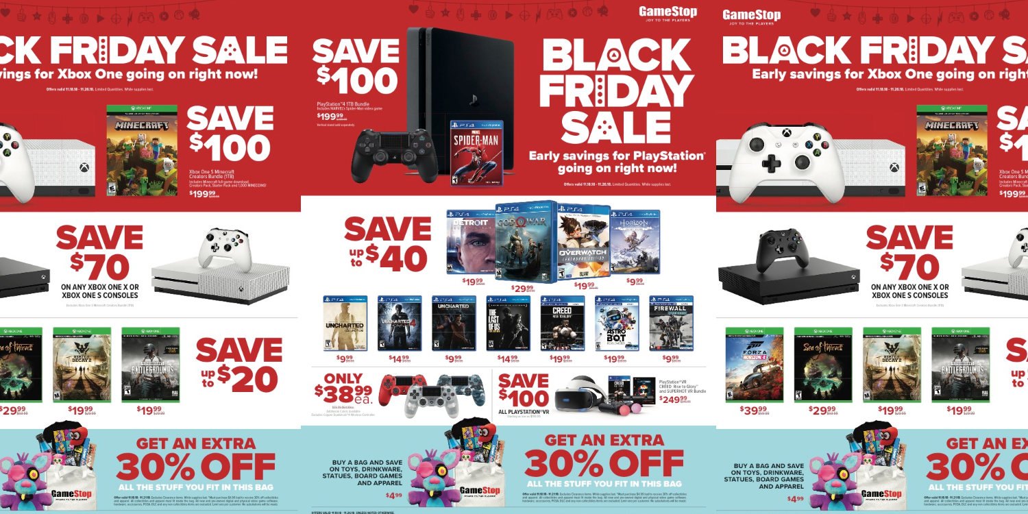 Gamestop Black Friday Preview Ps4 160 Off Xbox One 100