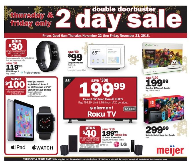 meijer black friday ad apple deals amazon devices more 9to5toys. Black Bedroom Furniture Sets. Home Design Ideas