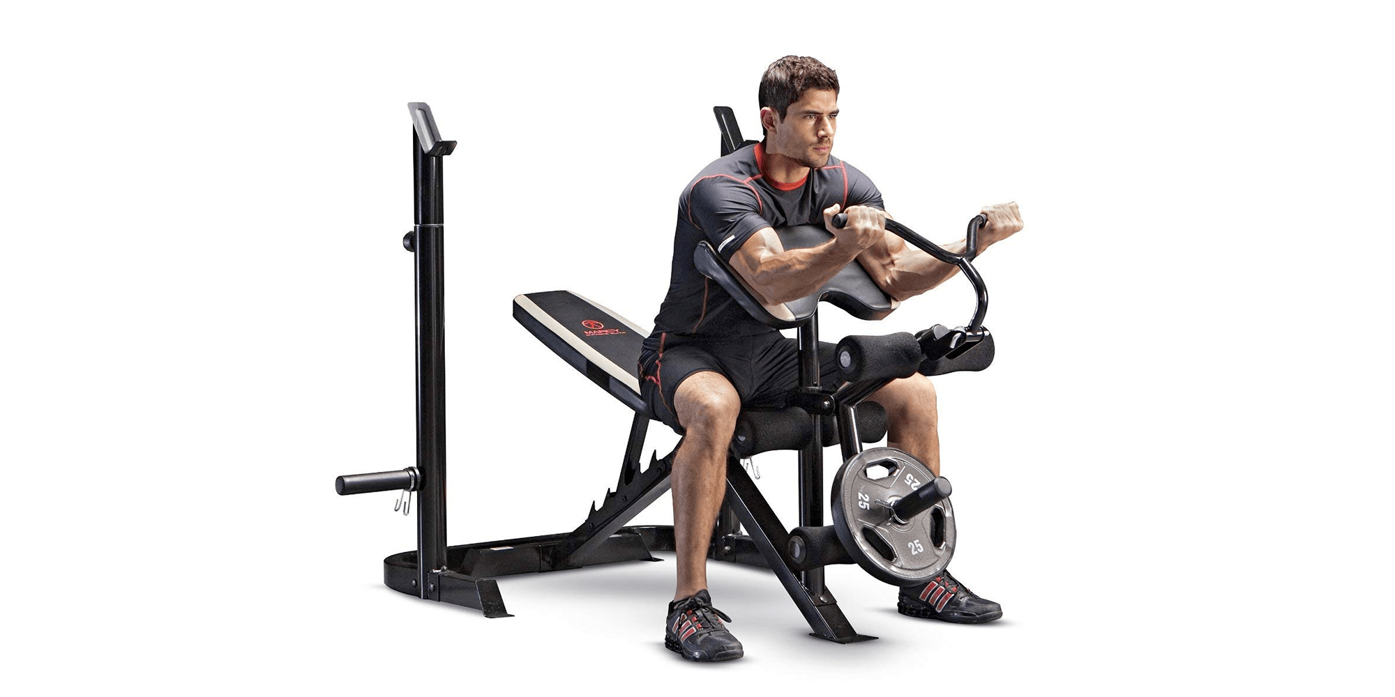 Get In Shape With This Adjustable Olympic Weight Bench For