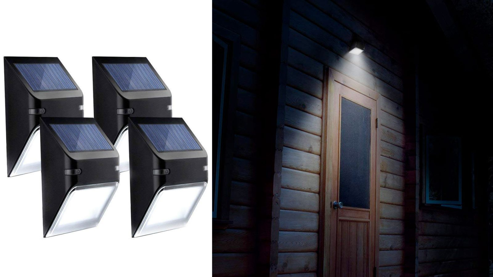 illuminate your yard without wires by using this 4 pack of solar lights for just 10 shipped [ 1600 x 900 Pixel ]