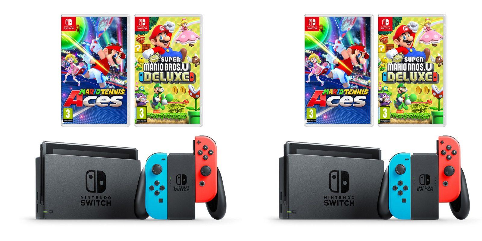 Nintendo Switch + Super Mario Bros U Deluxe & Mario Tennis Aces for $345 ($420 value). more - 9to5Toys