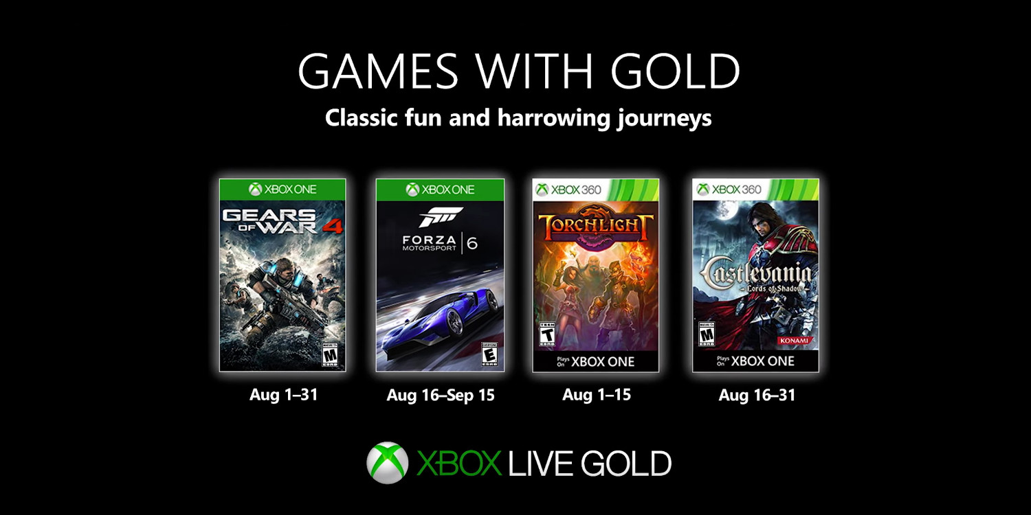 August S Free Games With Gold Gears Of War 4 More 9to5toys