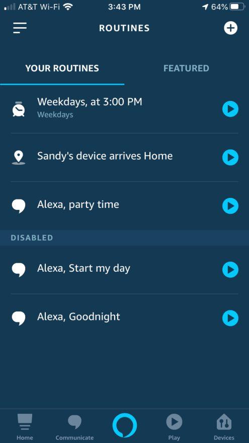 Alexa Your Routines