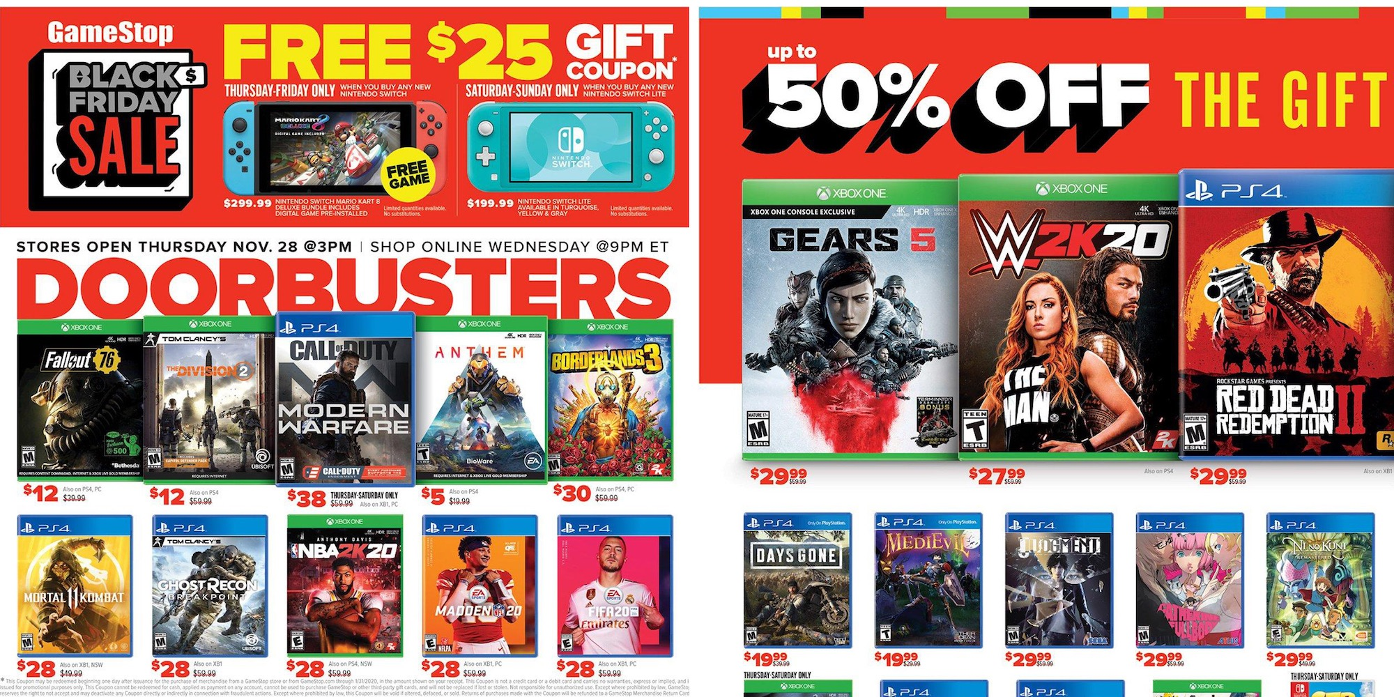 Gamestop Black Friday Ad 2019 Ps4 Pro Switch Lite More