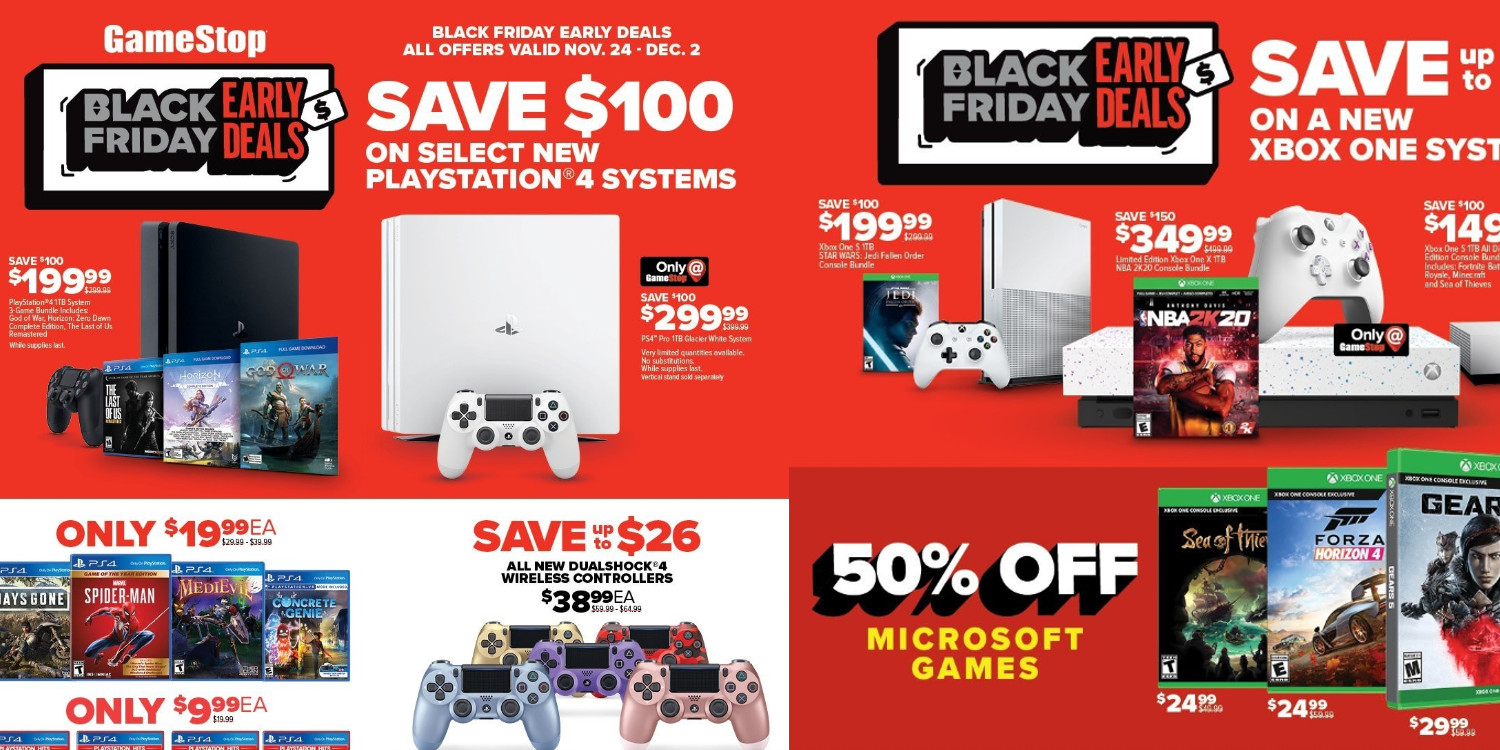Gamestop Black Friday Preview 150 Off Consoles More