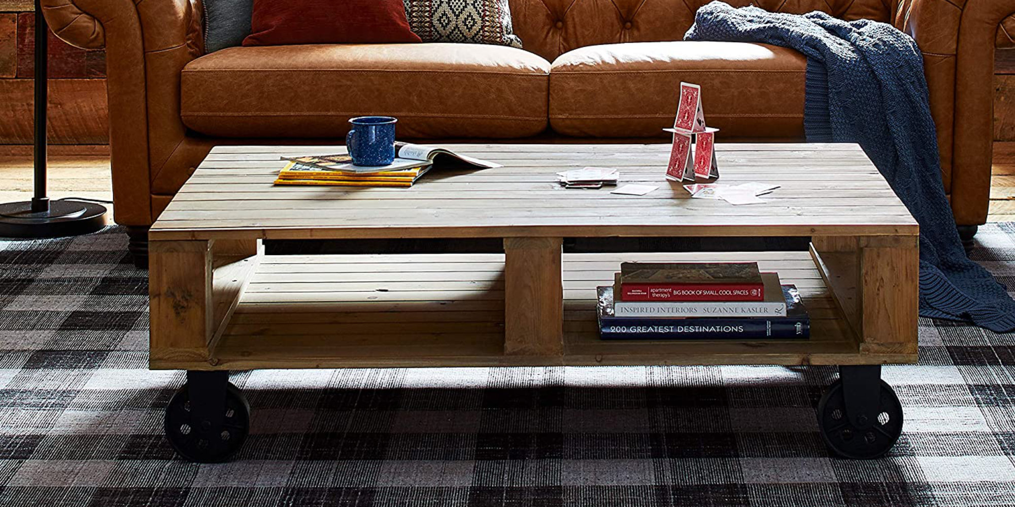 stone beam s pallet coffee table has