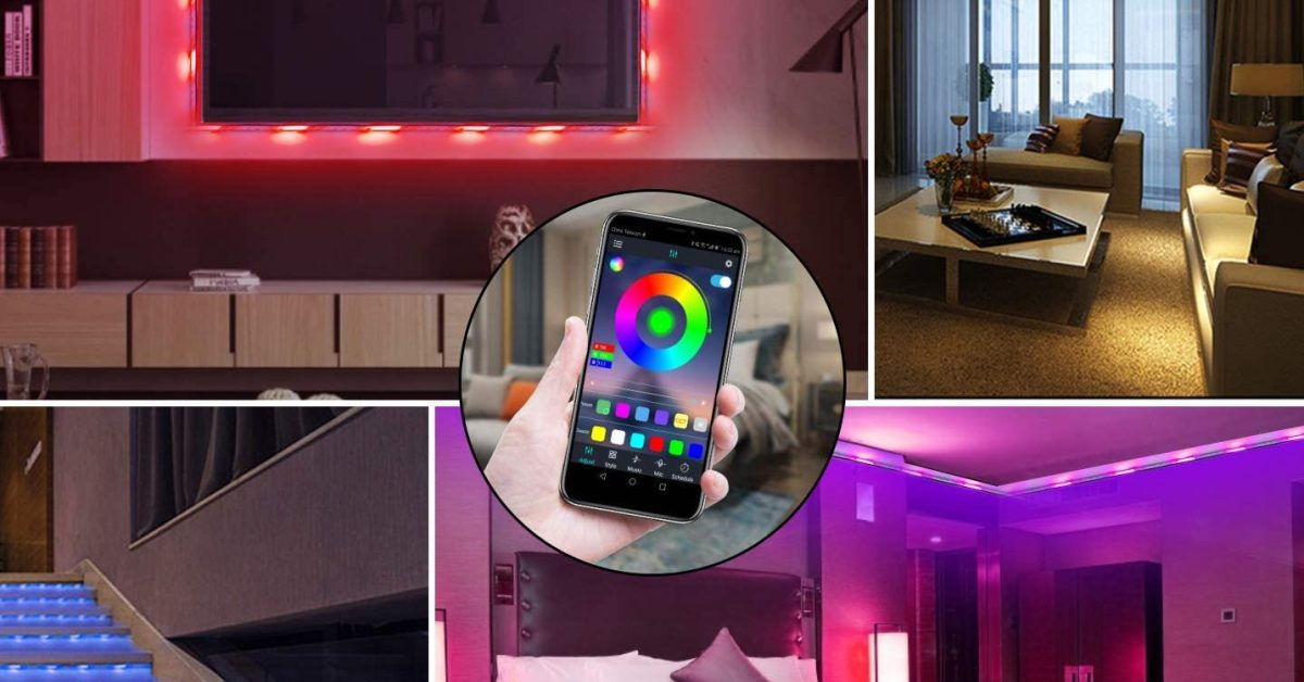 Smartphone-controlled LED strip lights for your home theater from $22.50 (30% off)