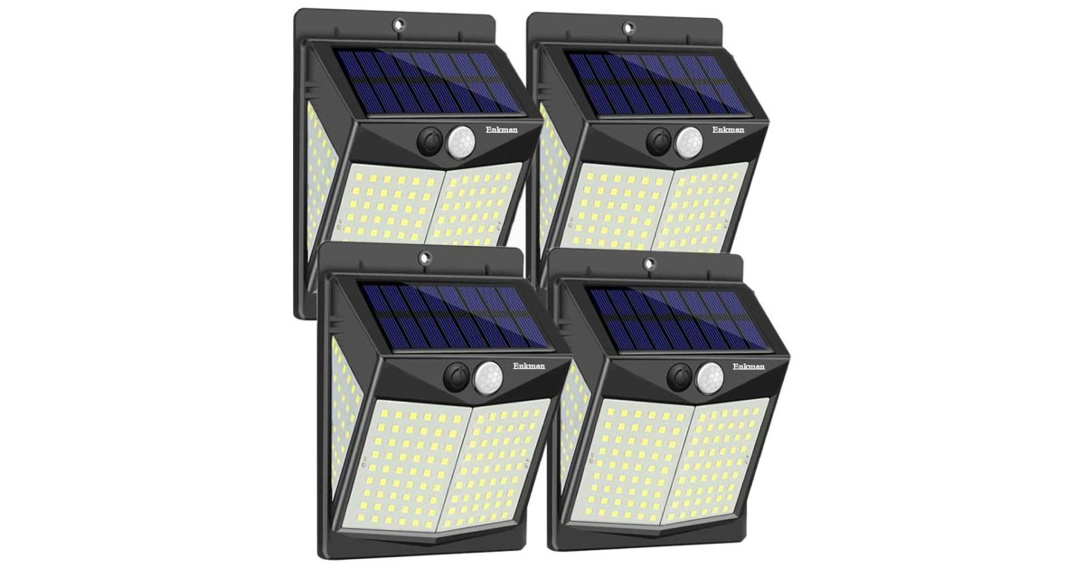 Add 12,000-lumens of light to your yard with a 4-pack of solar LEDs at under $6.50 each - 9to5Toys