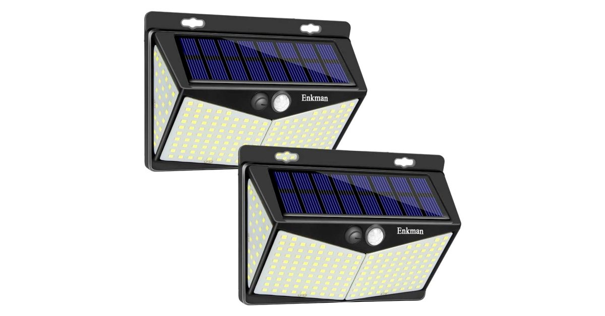 Just $9.50 each scores you two 3,200-lumen outdoor solar LED lights at Amazon - 9to5Toys