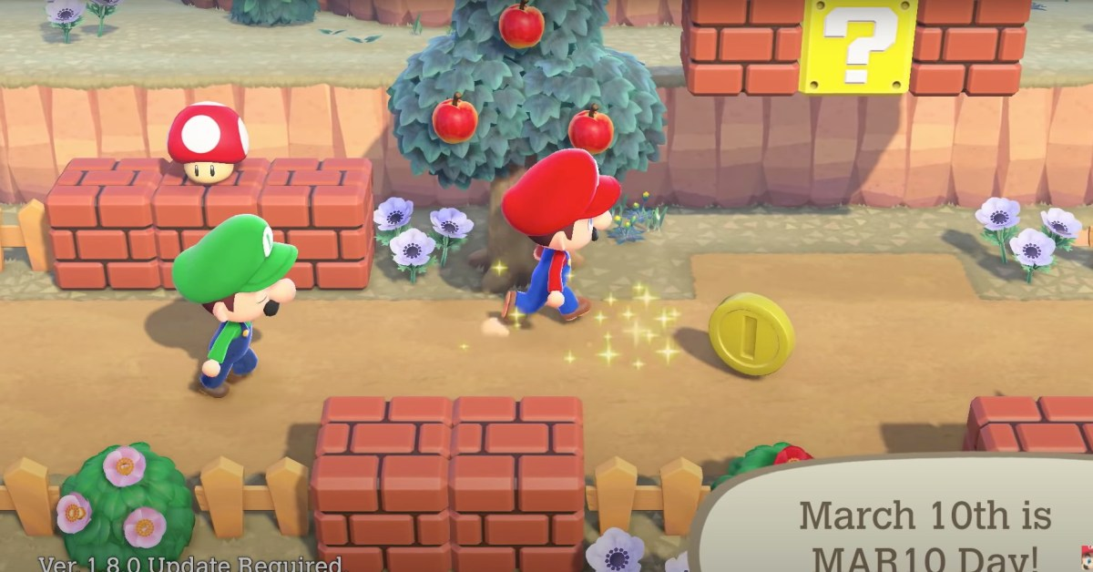March Animal Crossing update: Mario, critters, and more - 9to5Toys
