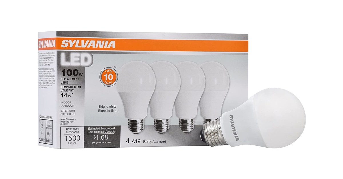 Illuminate your garage with a 4-pack of Sylvania's 1,500-lumen LED bulbs at $16.50 - 9to5Toys