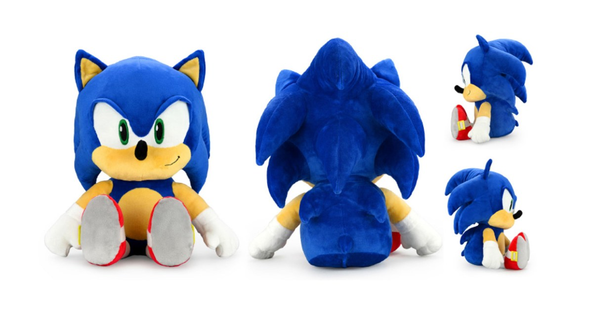 New HugMe Shake Action Plush Sonic dances on command - 9to5Toys