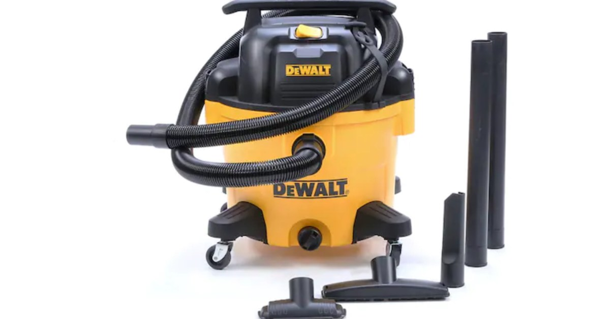 DEWALT's 9-gallon wet/dry shop vac drops to $79 at Lowe's (Reg. $99)