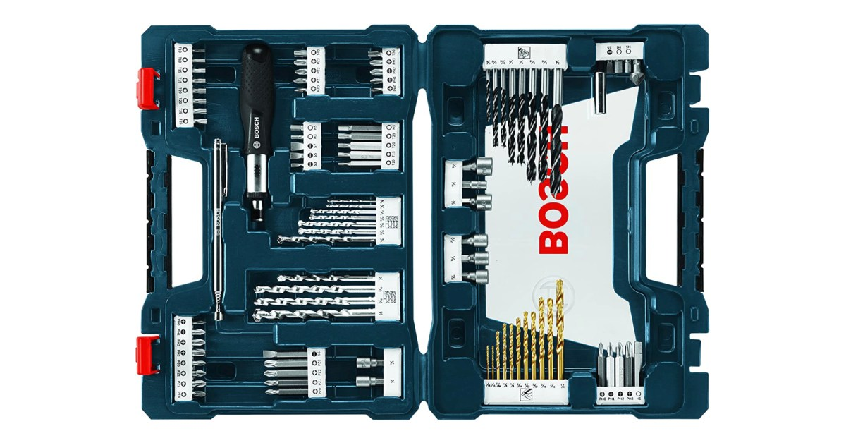 BOSCH's expansive 91-piece Drilling/Driving Bit Set falls to $31 (1-year low, Save 22%) - 9to5Toys