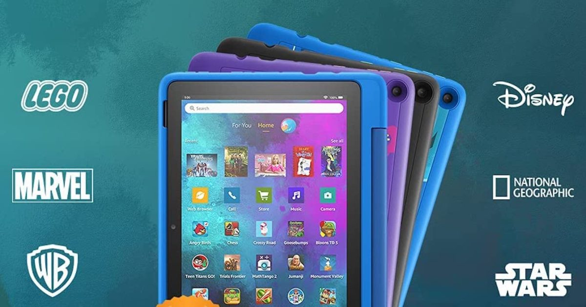 Score up to $100 off with the purchase of any two Amazon Fire Kids' tablets today