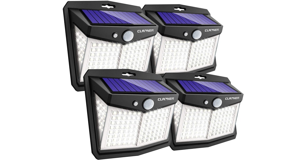 Score four of these highly-rated LED solar flood lights for just $4.50 each (Save 40%)