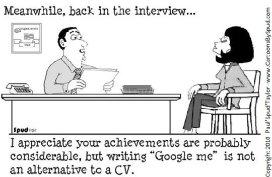 Resume Cartoon Clip