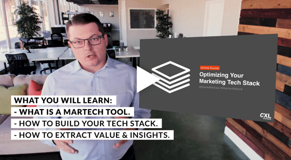 Screenshot 2019 06 11 Optimizing your marketing tech stack online course with CXL Institute