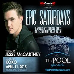 JESSE McCartney's Official Birthday BASH! 4/11 #PooLAfteRdarK #AtlanticCity Discount Admission #Guestlist